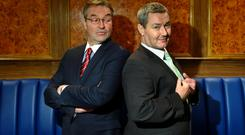 Light relief: Ian Beattie and Marty McGuire in BBC comedy Number 2s