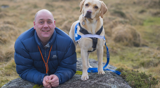 Former soldier Craig MacLellan with his dog Boo, who provides constant moral support
