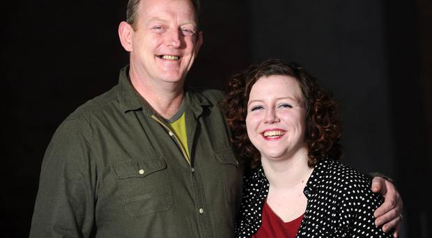 Next stage: Sean Kearns and daughter Caitlin, who is following in his thespian footsteps