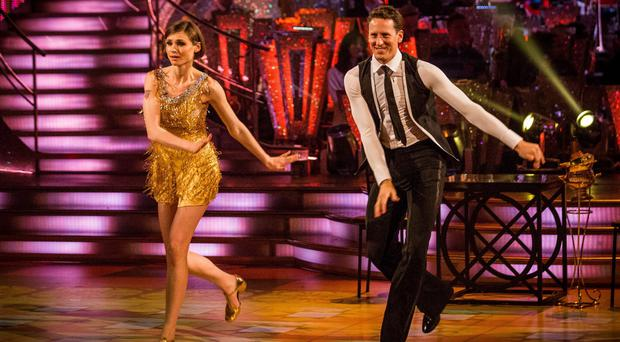 Brendan Cole with Sophie Ellis Bextor