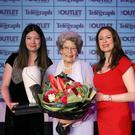 Top prize: Belfast Telegraph Woman of the Year Maud Kells with Siobhan McKeown (left), marketing manager of sponsors The OUTLET, and Gail Walker, Belfast Telegraph Editor