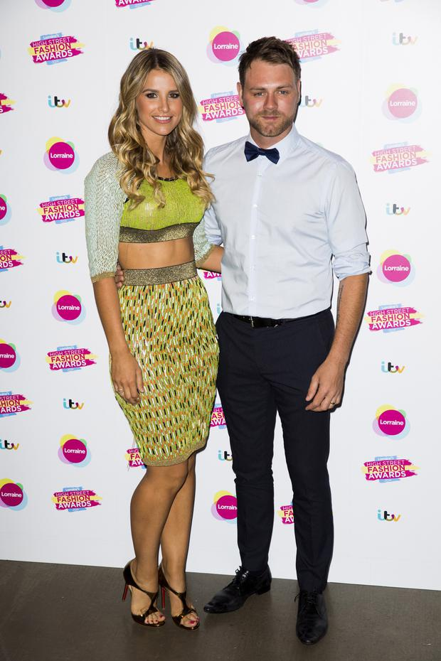 New love: Brian McFadden with model wife Vogue Williams