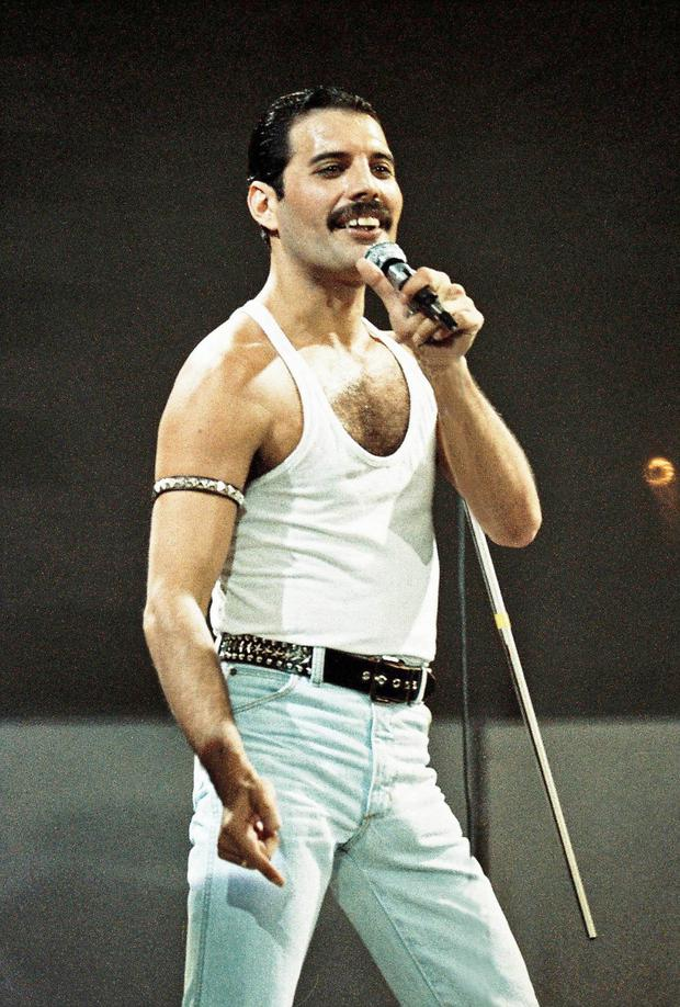 Musical royalty: Freddie Mercury and Roger Taylor are still revered today by fans of Queen