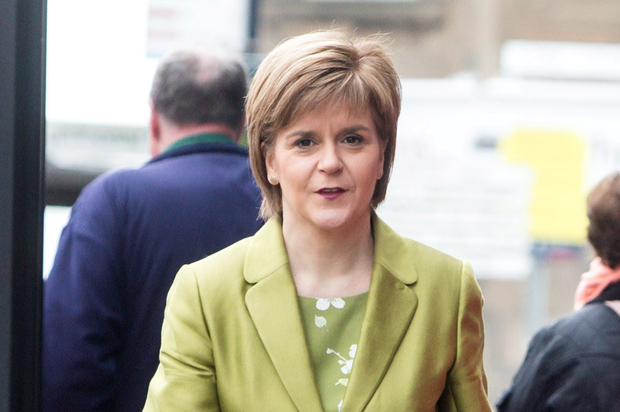 Going it alone: Nicola Sturgeon, like many female powerful politicians, has no children