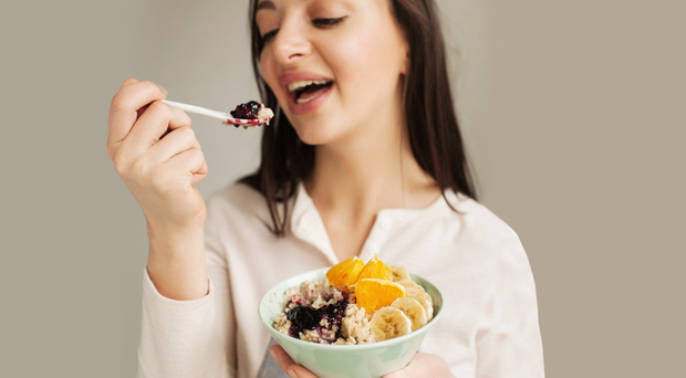 Healthy choice: porridge with mixed fruits is a very good way to start the day