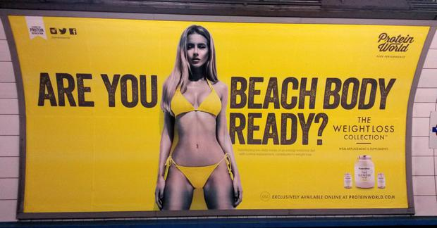 The vexed issue of whether a company can display the bikini-clad body of a very fit - in all senses of the word - model on advertising billboards, alongside the query,