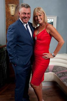 Model business: Alison Campbell with Darren Clarke