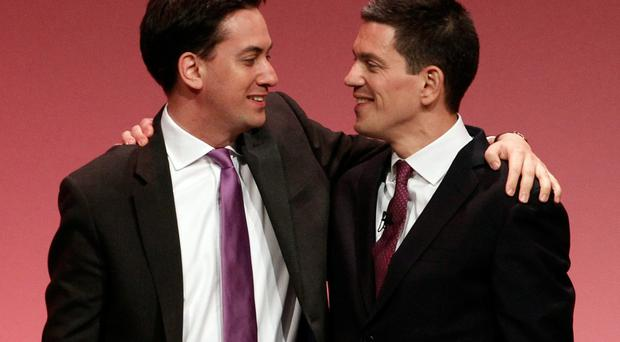 Brotherly love?: Ed and David Miliband are at loggerheads with each other