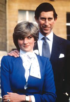 Charles and Diana on their engagement