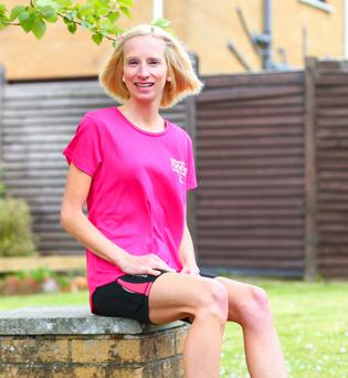 Stepping out: Julie Balmer is looking forward to this year's Runher
