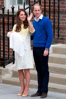 Double trouble: Kate was ill once again throughout her second pregnancy