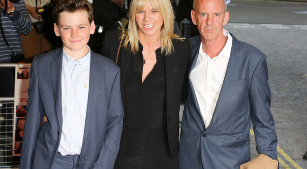 Cook with wife Zoe and son Woody