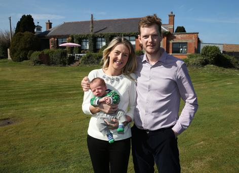 Chef Will Brown and Karena Eccles with their baby son Harry