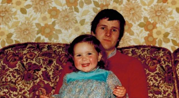 Painful past: Carolyn as a child with her father