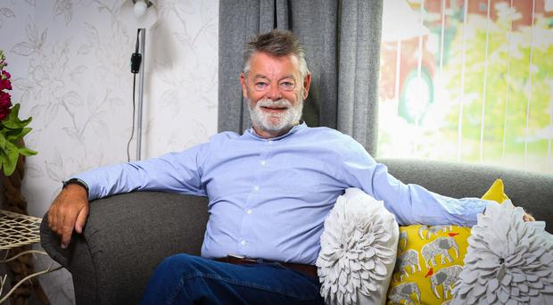 Charity mission: John Coghlan at his home in south Belfast