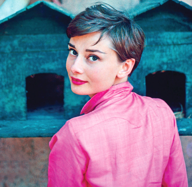 Audrey Hepburn in one of the unseen images on display