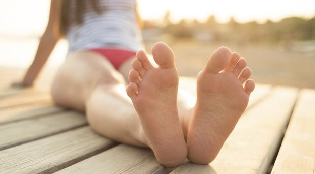Well heeled: it's good to give your feet regular care