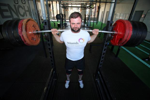 Feeling stronger: Rory Girvan, at his gym Hench, who is ambassador for male well-being with local mental health charity Niamh