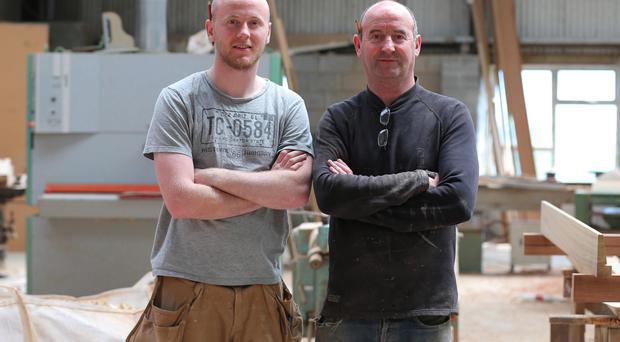 Strong bond: Nigel McGowan and his son, Philip
