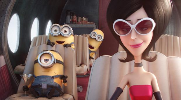 Bad girl: a scene from Minions with Scarlett Overkill, voiced by Sandra Bullock
