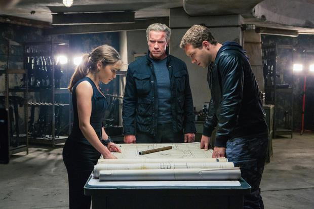 Judgment day: Emilia Clarke in Terminator Genisys with Arnold Schwarzenegger and Jai Courtney