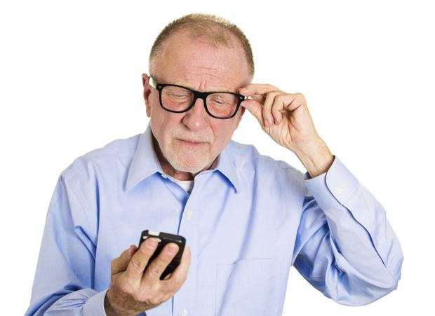 The most common cause of blindness in the UK is age-related macular degeneration. Picture posed