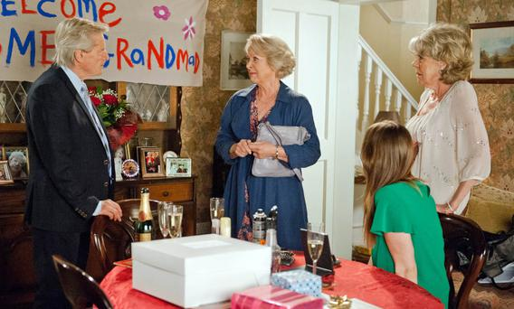Bombshell moment: Ken is told of Deirdre's death