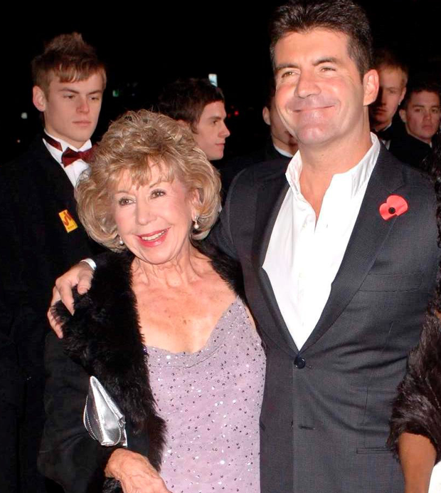 Simon Cowell and his mum Julie