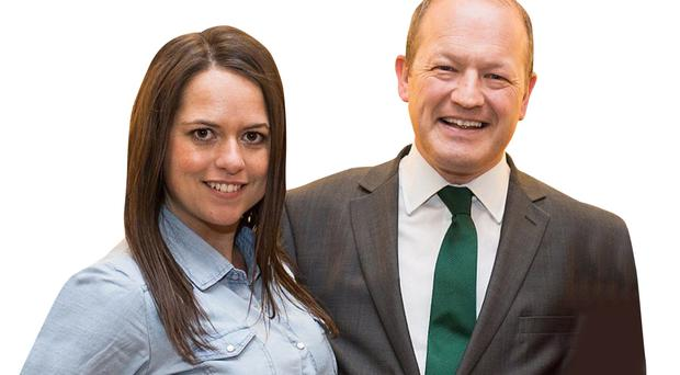 Clean breast: Karen Danczuk with her now estranged husband Simon