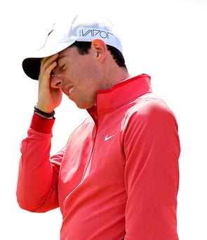 Tough times: Rory McIlroy ponders his next move for the public