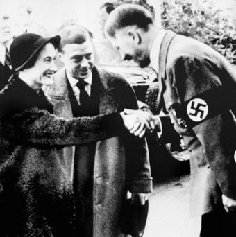 Warning signs: the Duke and Duchess of Windsor meeting Adolf Hitler in 1933