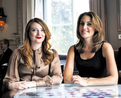Best mates: Samantha Barry (left) and Anne-Marie Tomchak