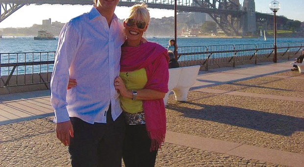 Emma-Louise Johnston and husband Jonathan in Sydney