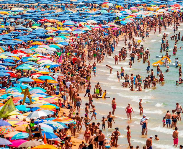 The famous Spanish holiday resort of Benidorm is enjoying a revival in popularity and Levante Beach was crammed with tourists this week as the Costas once again become a magnet for holidaymakers