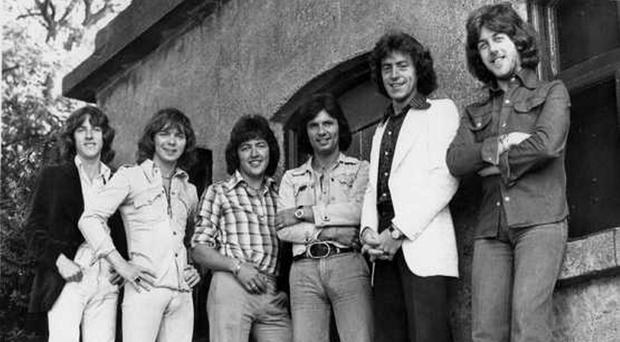 Fourth from left, Des Lee, with The Miami Showband line-up in early 1975. The men who died were Tony Geraghty, Fran O'Toole and Brian McCoy. Ray Millar (third from left) and Stephen Travers (far right) also survived