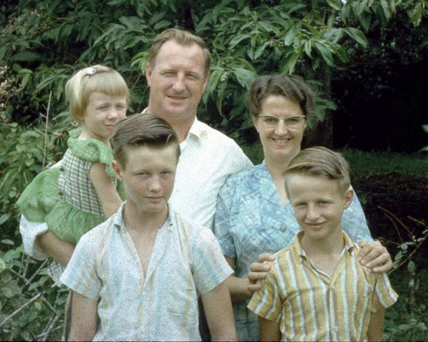 Brave family: the McAllisters, from Belfast, pictured in the Congo just prior to the 1964 rebellion
