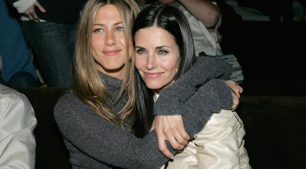 Jennifer Aniston with Courteney Cox