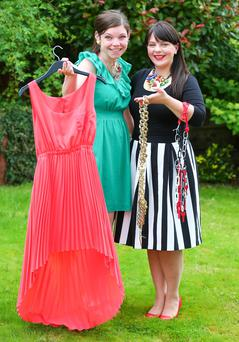 Setting trends: Amanda Rankin (left) and Melanie Bond with some of their offerings