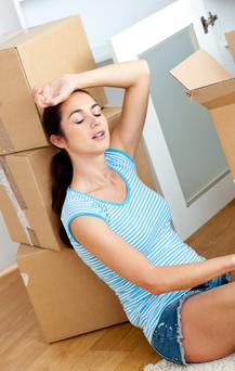Boxing clever: moving house can be a very stressful time