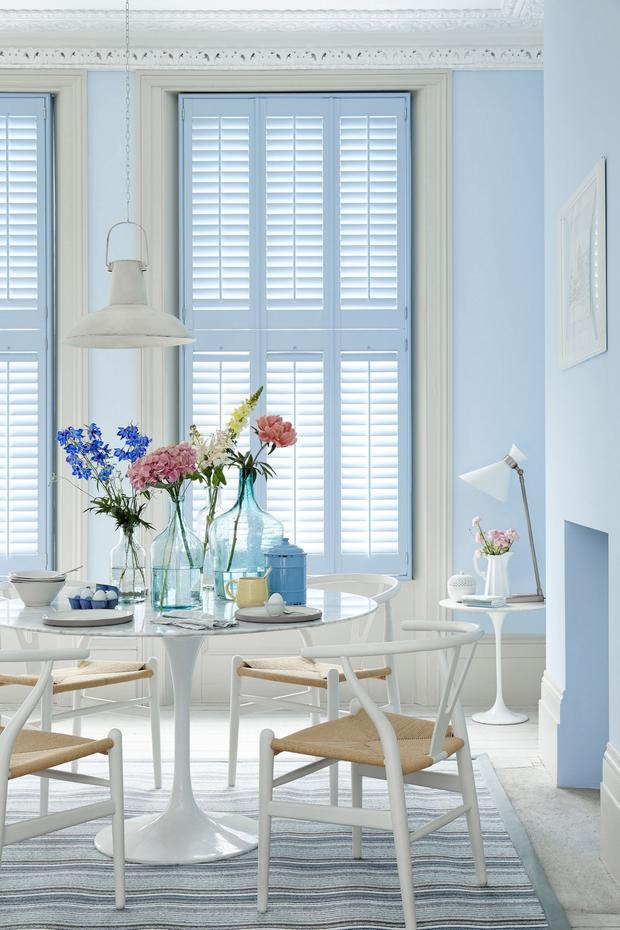 Tier on Tier Shutter, Blue, from £165m2, available from The Shutter Store