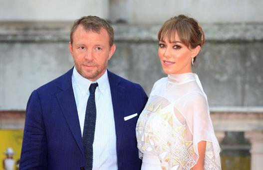 Big picture: Ritchie with wife Jacqui Ainsley at the UK premiere of The Man From U.N.C.L.E.