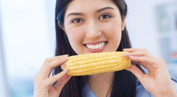 Tasty treat: sweetcorn is not only delicious, it has a whole range of health benefits
