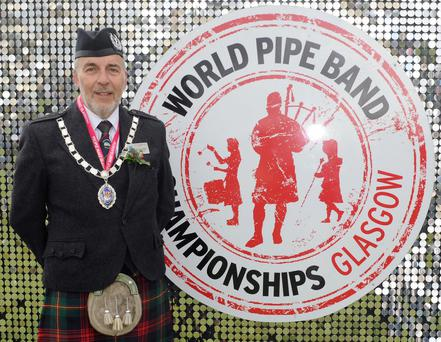 Calling the tune: George Ussher is president of the Royal Scottish Pipe Band Association