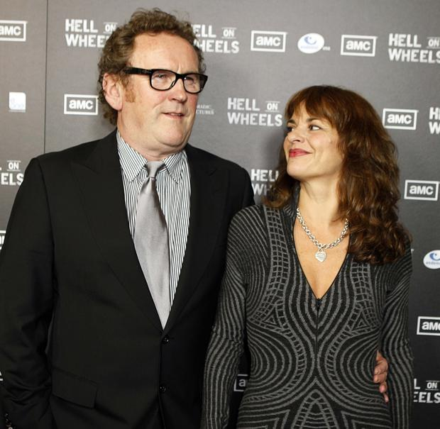 Leisurely life: Colm Meaney with his wife Ines