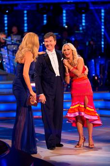 Country cool: Strictly host Tess Daly (left) with Daniel O'Donnell and his professional dance partner Kristina Rihanoff at the launch showshows