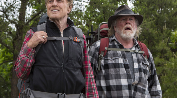 Stepping out: Robert Redford and Nick Nolte in A Walk in the Woods