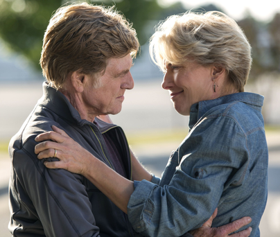 Robert Redford with Emma Thompson in A Walk in The Woods