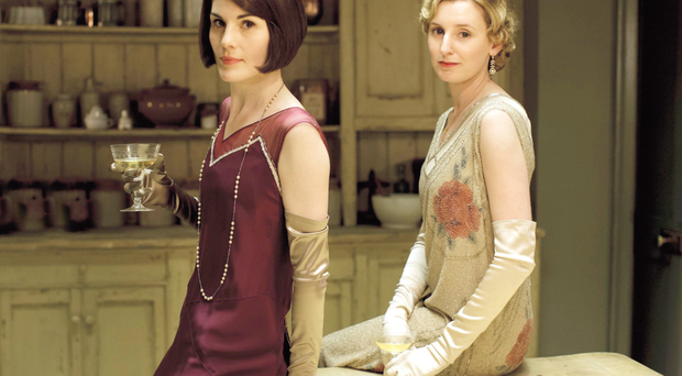 Lady Mary and Lady Edith are played by Michelle Dockery and Laura Carmichael