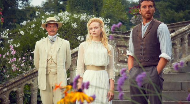 Romantic tale: The Go-Between's Trimingham (Stephen Campbell Moore), Marian (Joanna Vanderham) and Ted Burgess (Ben Batt)