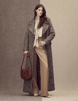 Coat, £169, top, £39.50, trousers, £45, bag, £39, shoes, £45, M&S